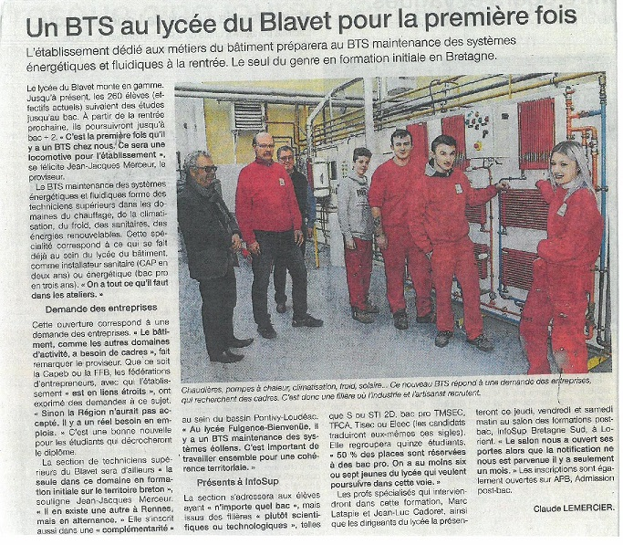 Article Ouest France BTS page 26