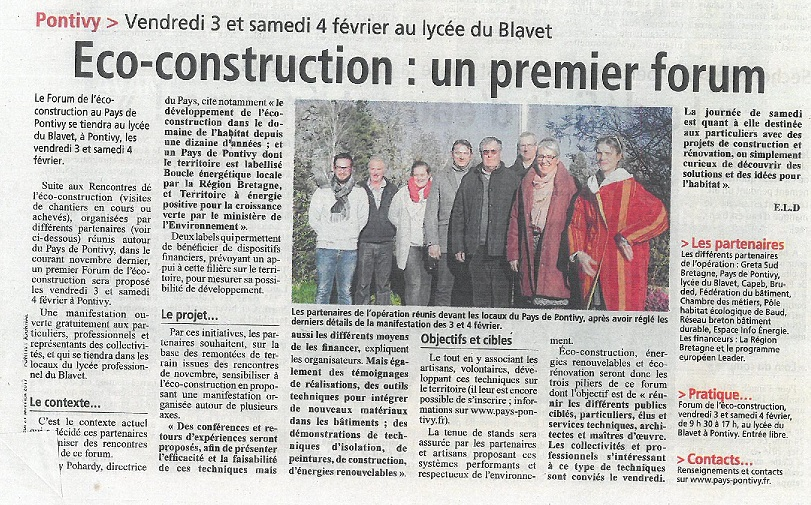 Article Pontivy Journal du 270117 Eco Construction