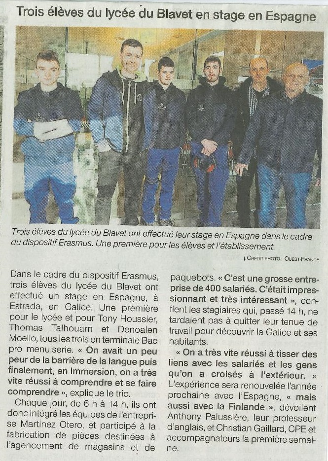 Article Ouest France Erasmus du 28-03-page-001
